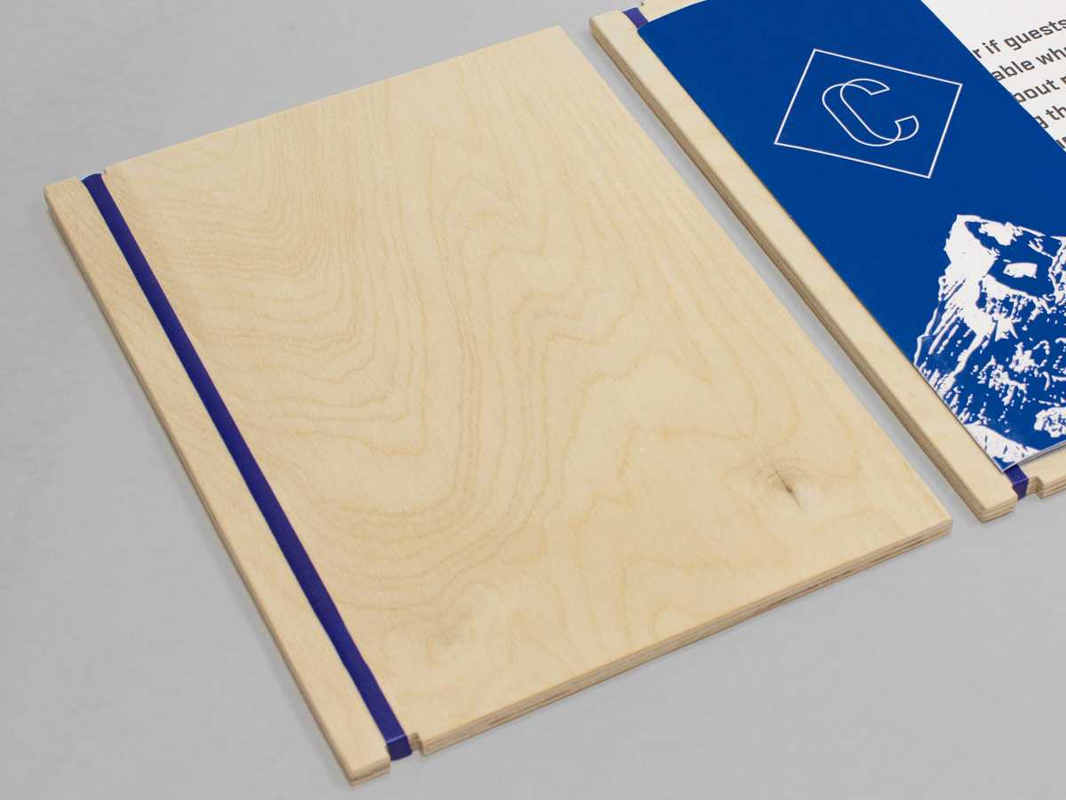 Restaurant Menu Wood Board