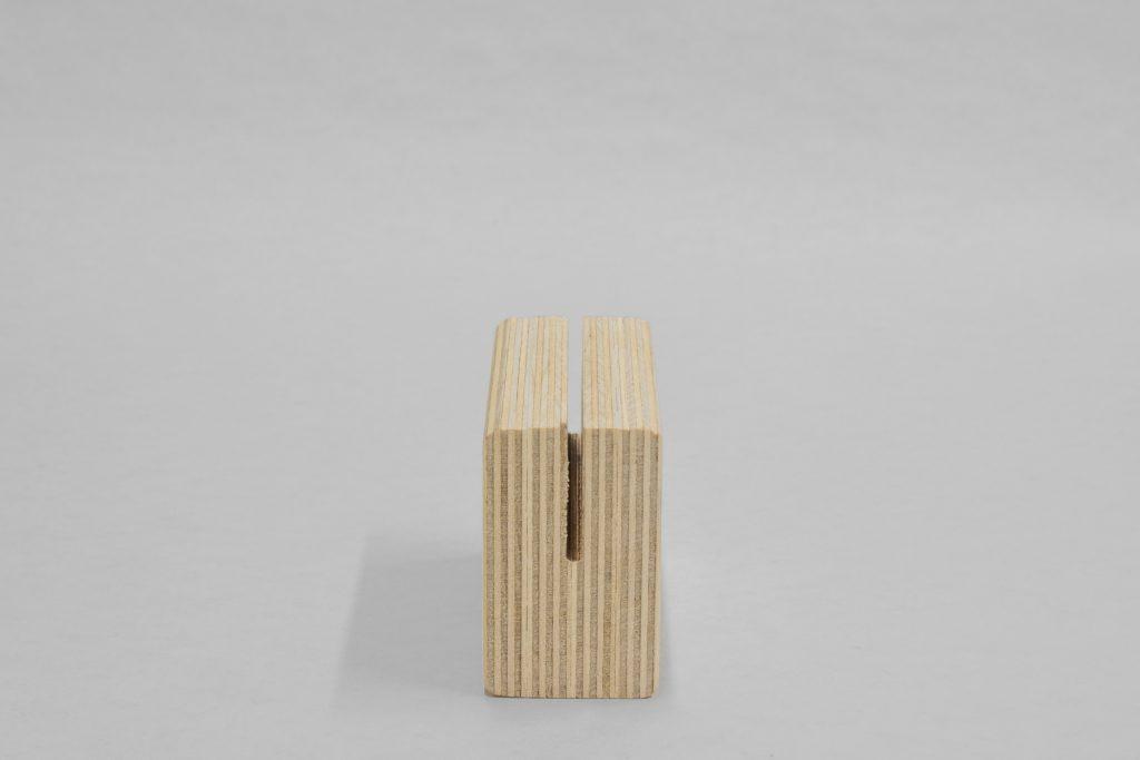 wooden menu stand