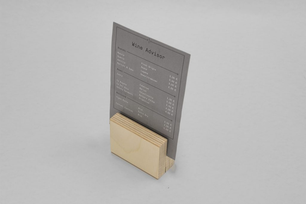 menu table stand