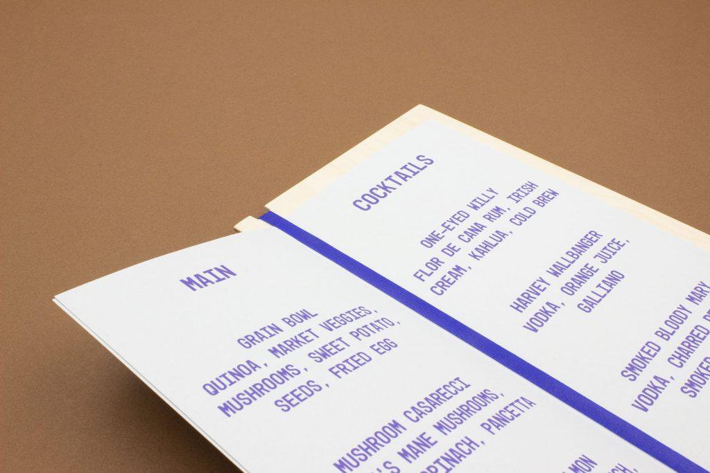 wood menu cover