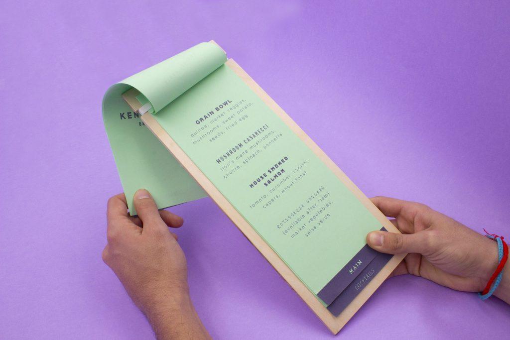 restaurant menu holder