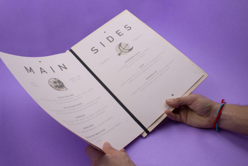 table menu holders
