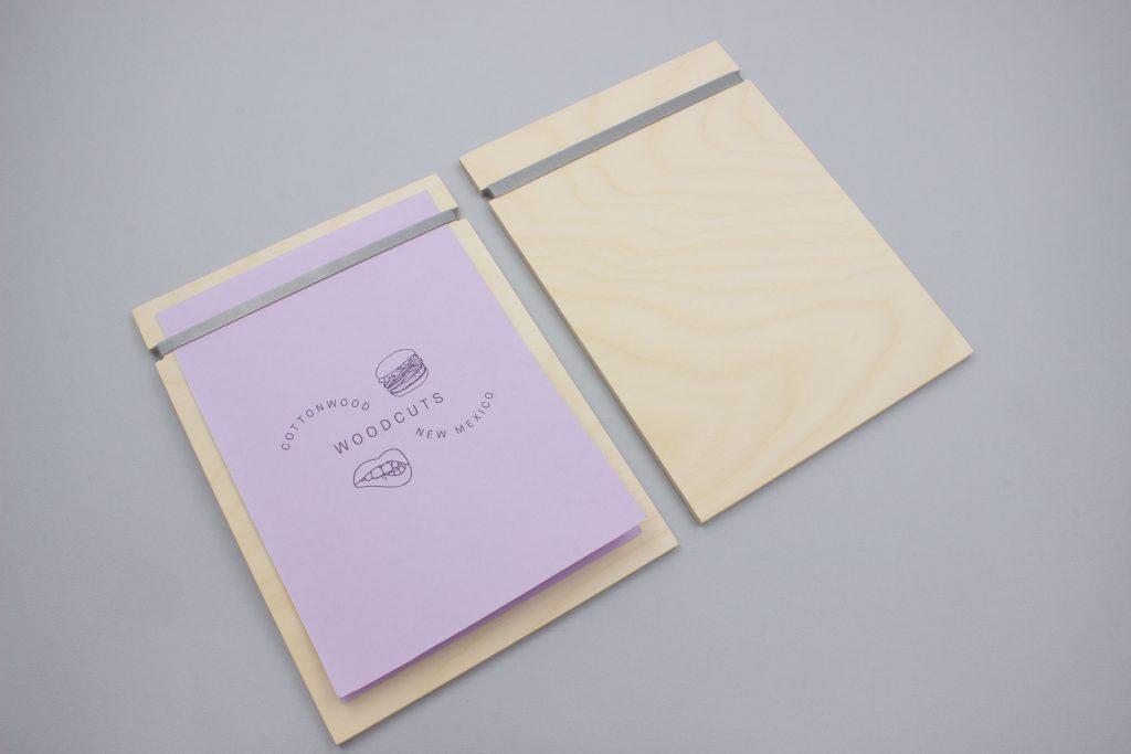 a5 wooden menu