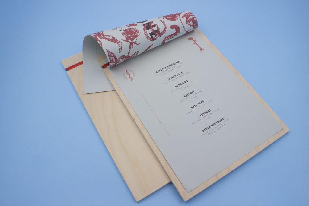porta menu design